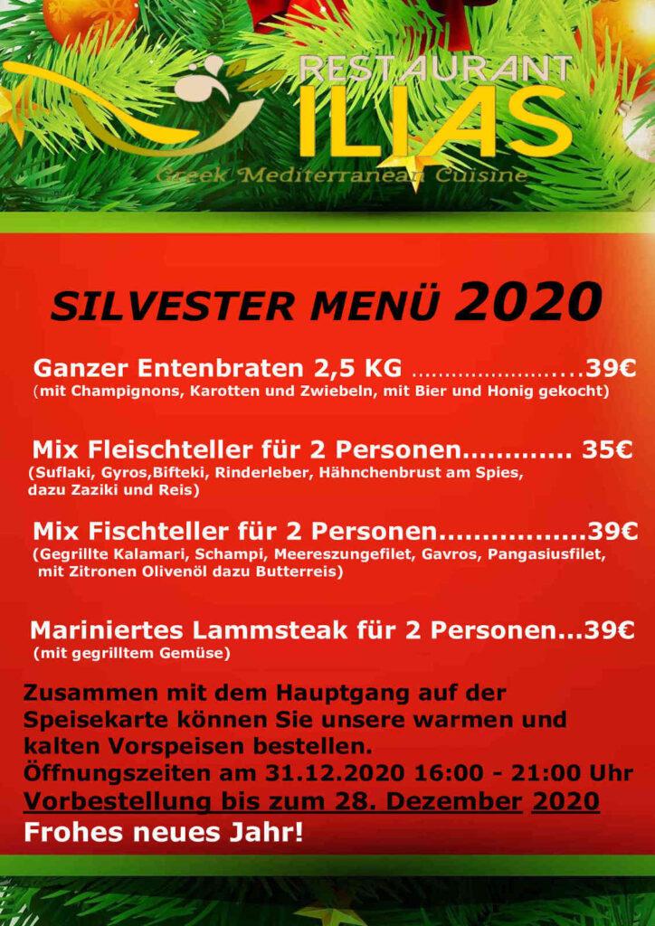 Silvestermenü 2020: Entenbraten, Fischteller, Mariniertes Lammsteak